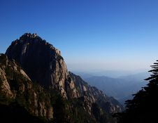 Huangshan Mountain 3rd Peak Stock Images