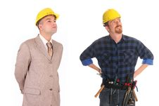 Free Construction Worker And Architect Stock Photo - 5117310