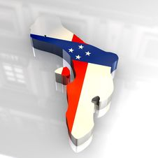 Free 3d Flag Map Of Bonaire Netherlands Antilles Royalty Free Stock Photo - 5117465