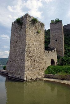 Tower Of Stone Fortification In Serbia Stock Photography