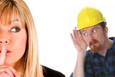 Free Businesswoman And Construction Worker Stock Images - 5118994