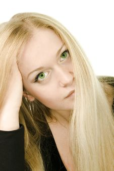 Free Young Attractive Green-eyed Woman Royalty Free Stock Image - 5119066