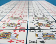Lines Of Pokercards Royalty Free Stock Photography