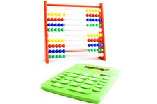Free Abacus And Calculator Royalty Free Stock Photo - 5119575