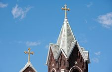 Free Two Church Steeples Stock Image - 5119971