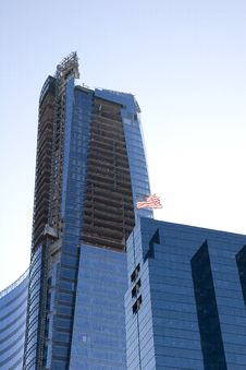 Free American Blue Tower Construction Royalty Free Stock Images - 5120019