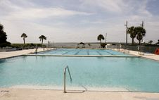 Free Empty Seaside Pool Royalty Free Stock Image - 5120026