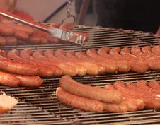 Free Sausages On Grill Stock Photos - 5120153