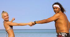 Free Beach Couple Stock Photos - 5120213