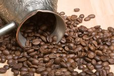 Free Cezve And Roasted Coffee Beans On The Table Stock Images - 5120404