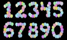 Balloon Numbers Stock Images