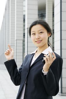 Free Business Women Holding A Mobile Phone Stock Images - 5121164
