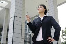 Free Business Women Holding A Mobile Phone Stock Photos - 5121173