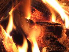 Free Burning Wood Stock Image - 5121301