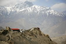 Free View Of Jharkot Village And Surrounding Royalty Free Stock Photography - 5122297