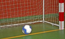 Ball In The Goal-net Stock Photography