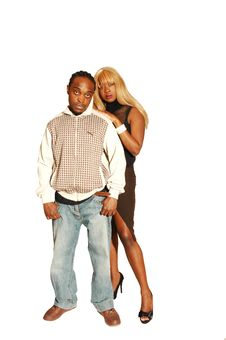 Young Black Couple Royalty Free Stock Image
