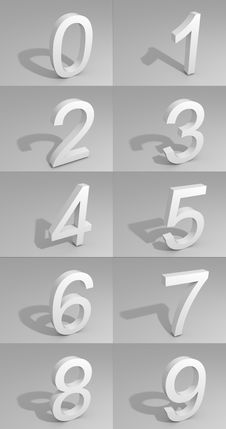 Free White Number On Gray Background Royalty Free Stock Photo - 5123445