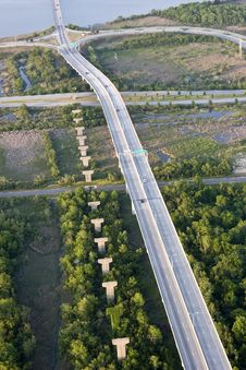 Aerial View Of Elevated Roadway Royalty Free Stock Photography