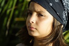 Free Young Child In A Bandanna Stock Photo - 5124060