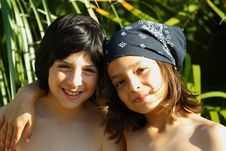 Free Two Young Friends Royalty Free Stock Photo - 5124065