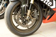 Free Wheel Of The Sport Motorcycle Stock Images - 5124144
