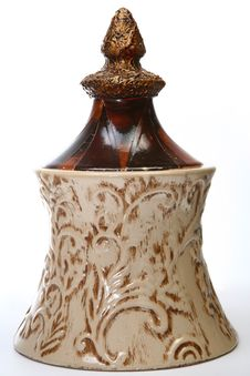 Free Decorative Ceramic Jar Royalty Free Stock Image - 5124686
