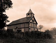 Free Melverley Church Sepia Stock Images - 5124784