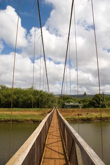 Free Hawaii Walking Bridge Stock Image - 5124891