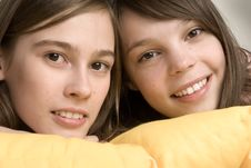 Charming Girls Royalty Free Stock Photography