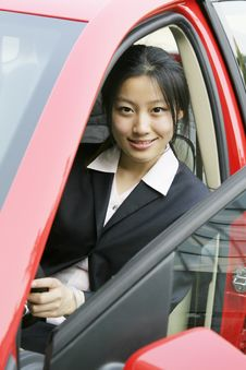 Free Business Women With Her Car Stock Image - 5125481