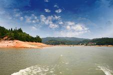 Free Blue Sky And Lake Stock Image - 5125641