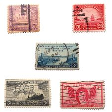 Free Assorted Old US Stamps Stock Photos - 5125963