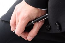 Free Business Hand With Pen Stock Photo - 5126110