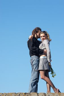 Free Couple Tenderness Under The Sky Stock Photos - 5126193