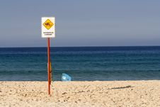 Free Dangerous Current Sign Stock Photography - 5126222