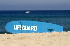 Free Lifeguard Surfboard Royalty Free Stock Images - 5126229