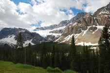 Free Snow Mountain In Rockies Stock Image - 5126241