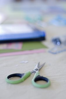Free Scissors For Scrap Booking Royalty Free Stock Photography - 5126247