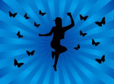 Free Girl And Butterflies Stock Photos - 5127653