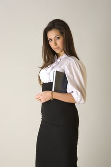 Business Woman Holding Agenda Stock Photos