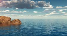 Free Rock Coast Royalty Free Stock Image - 5128036