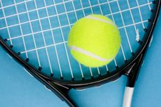 Free Tennis Ball With Racket Stock Photos - 5128103