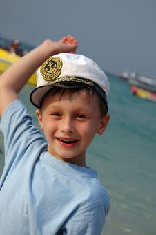 Free Boy On The Beach. Royalty Free Stock Image - 5128336