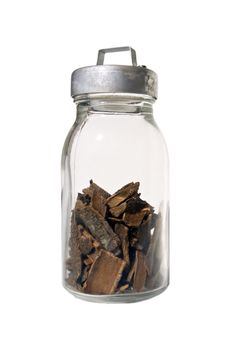 Cinnamon - Sticks In A Glass Jar Stock Photos