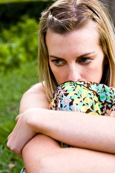 Free Pensive Blond Woman Stock Photos - 5128493