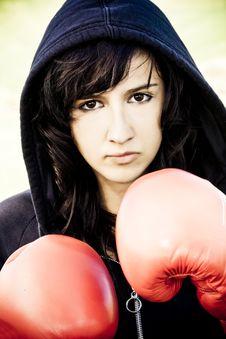Free Boxing Woman Royalty Free Stock Photos - 5128728