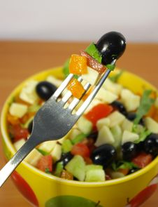 Free Greek Salad Stock Photo - 5128810