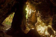 Free Palaha Caves - Looking Out Stock Image - 5128941