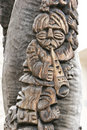 Free Carved Peasant Playing Fife Stock Photography - 5131682